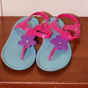 GIRL JELLY SHOES FLOWER PINK PURPLE JELLY GIRLS